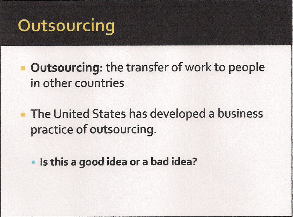 outsourcing  a case study